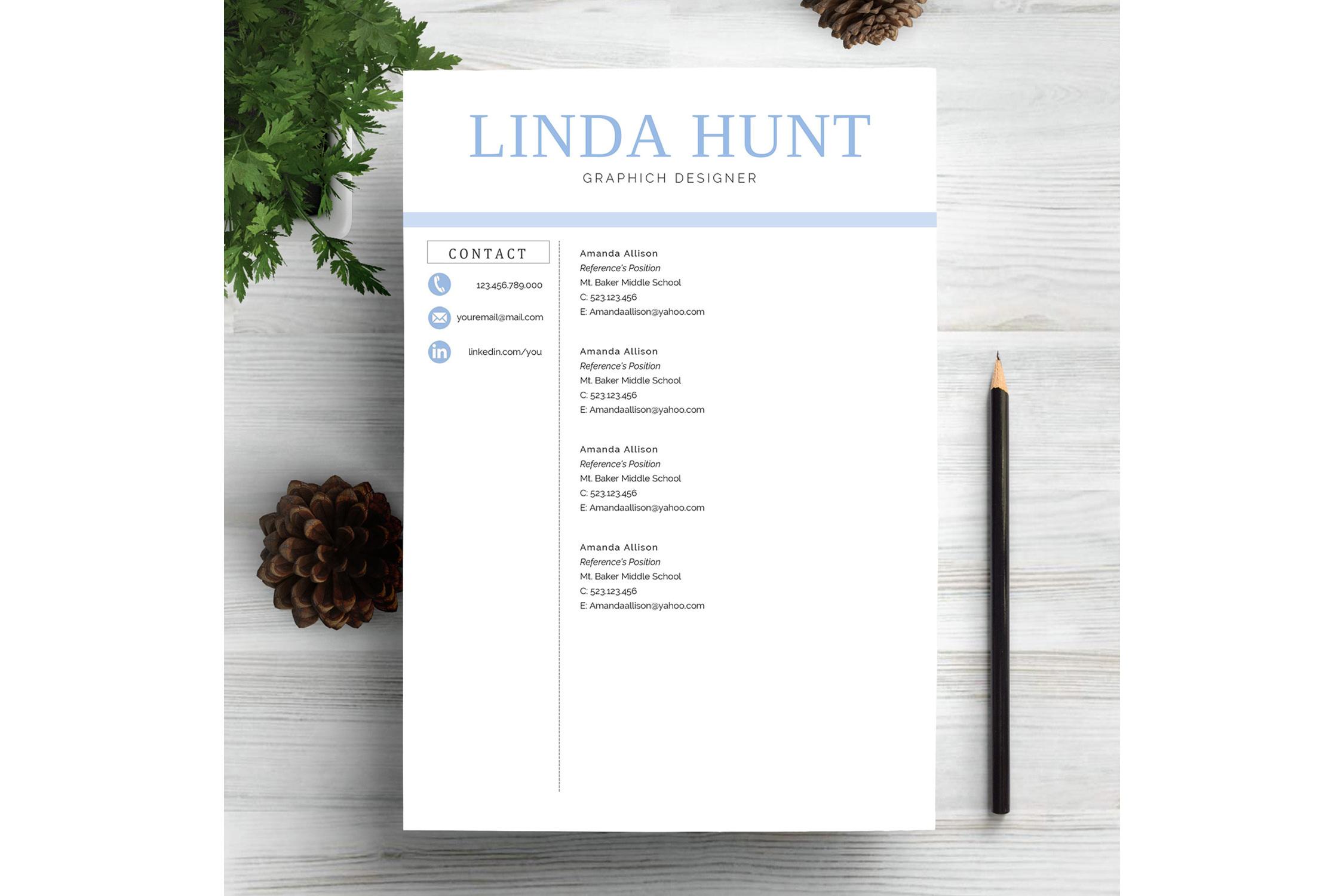 Creative CV Resume Template Word example image 3