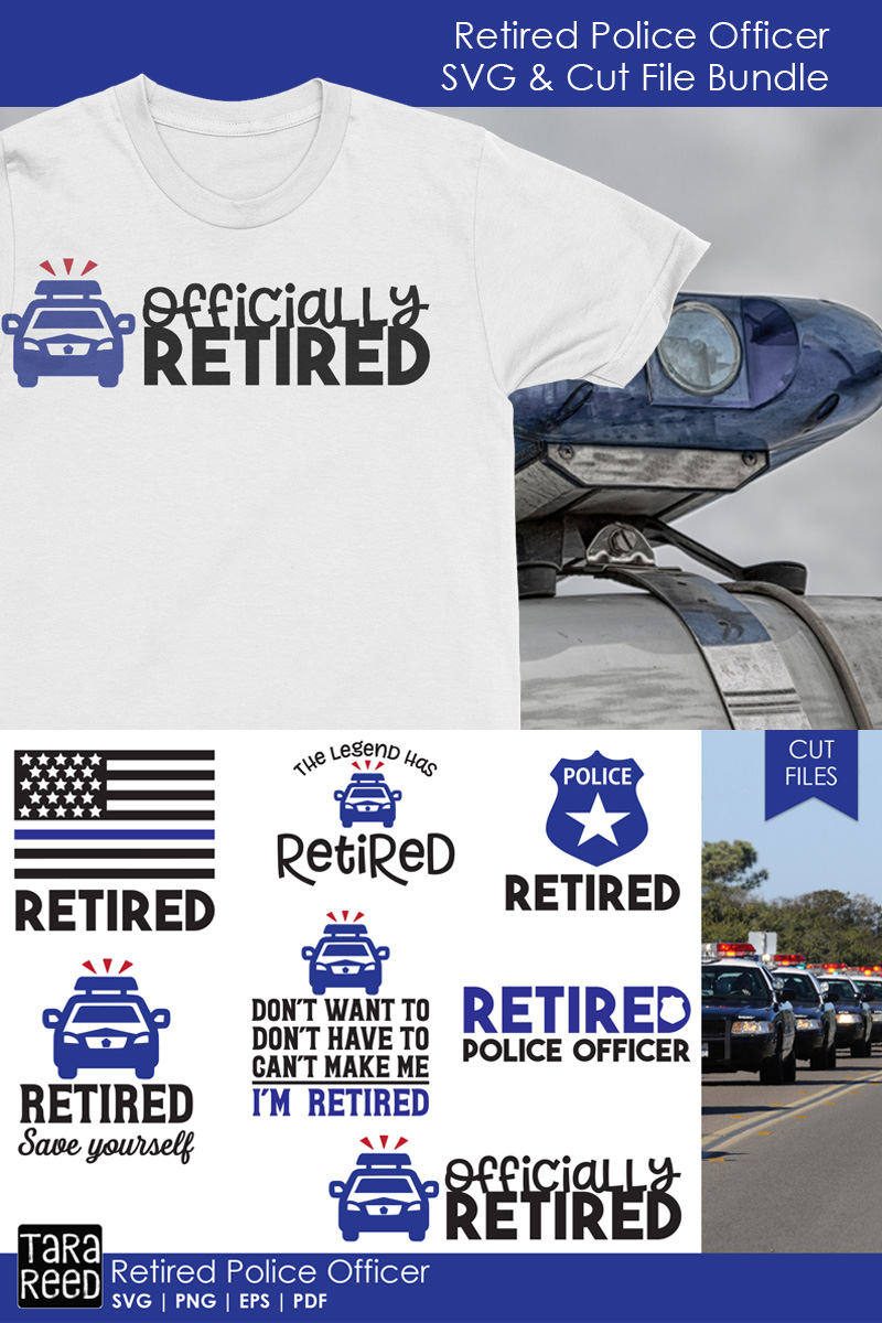 Retired Police Officer SVG and Cut Files for Crafters example image 2
