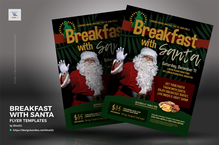 Breakfast With Santa Flyer Templates example image 3