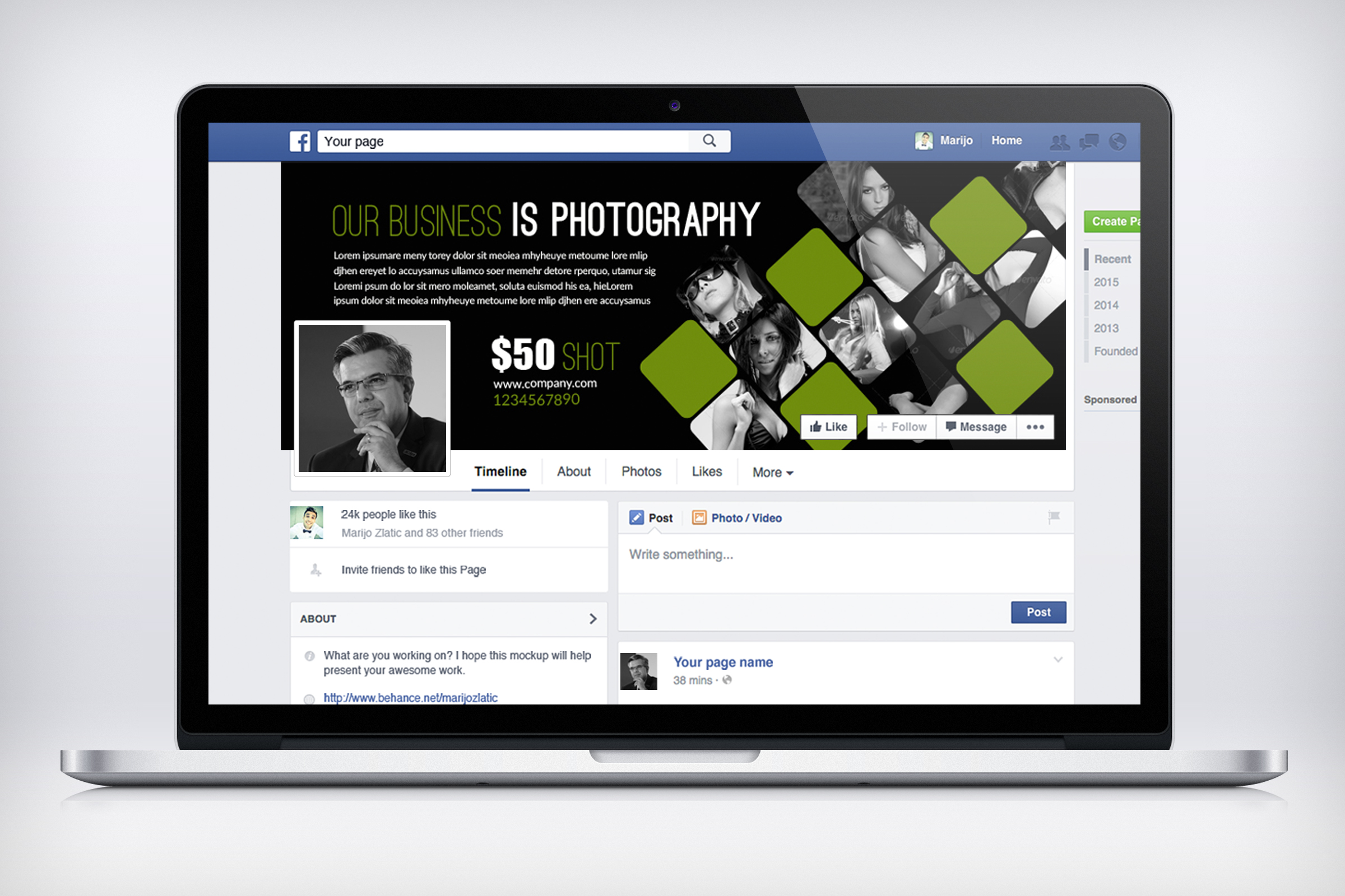 Photography Business Facebook Timeline example image 2