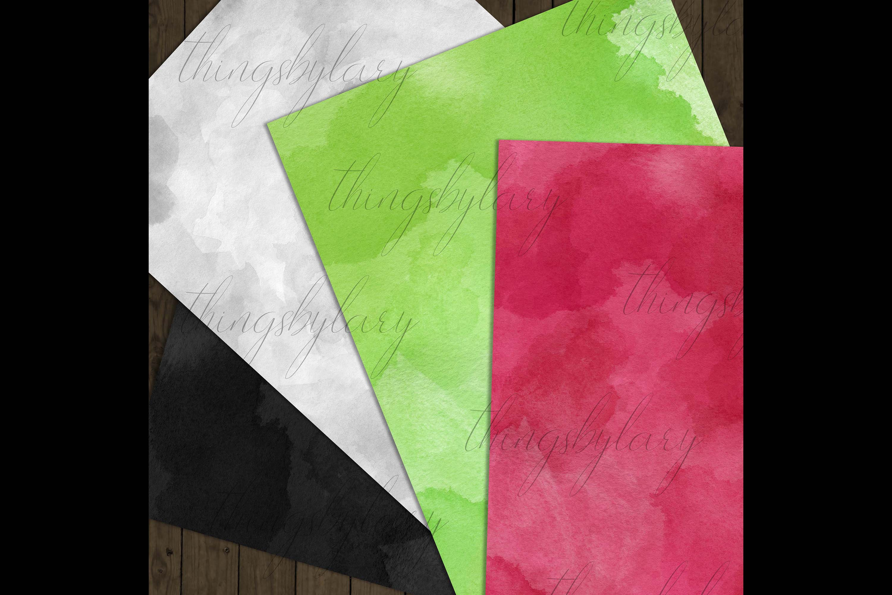18 Sweet Ombre Watercolor Digital Images Card Invitation example image 7
