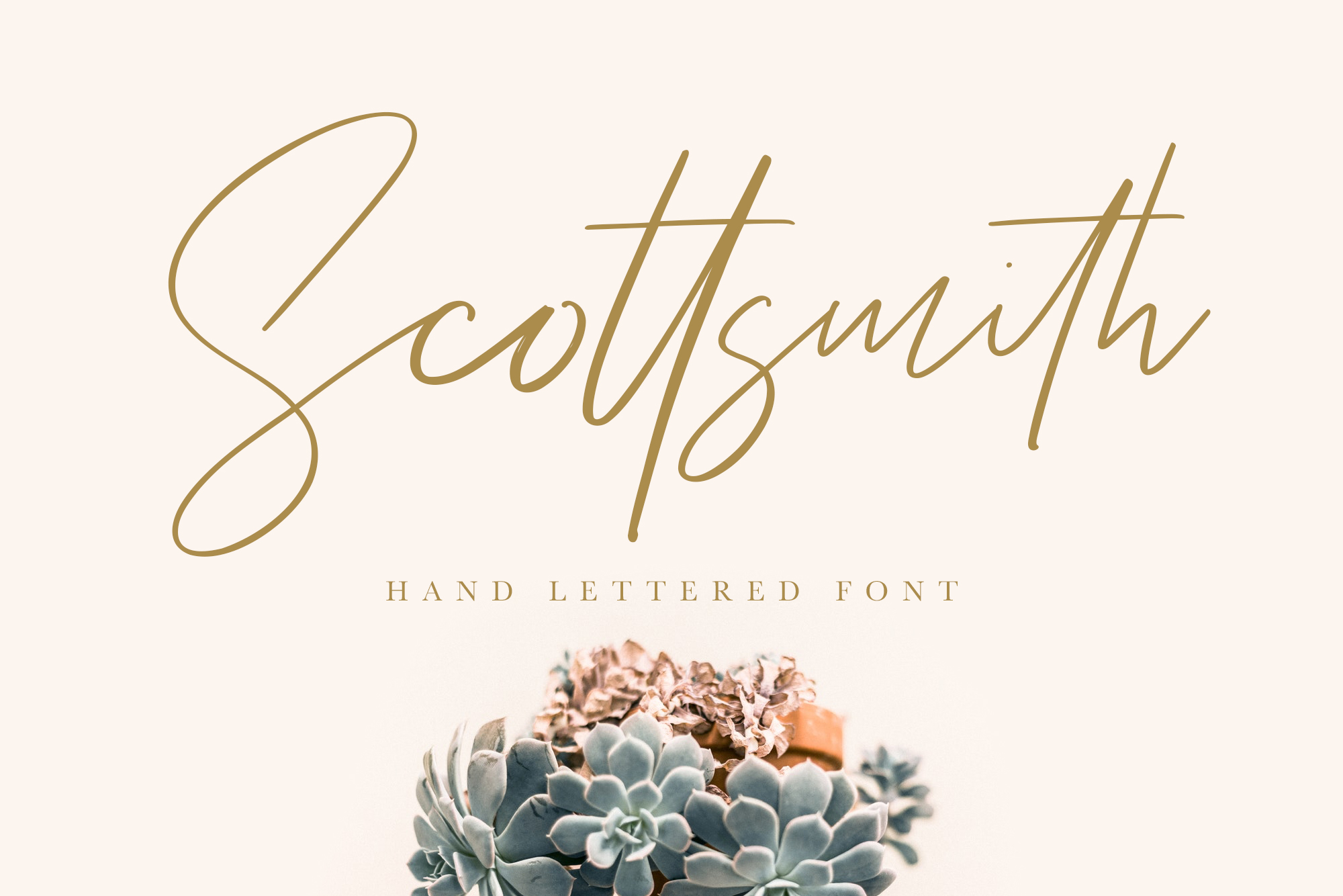 Scottsmith - Ligatures Font example image 1