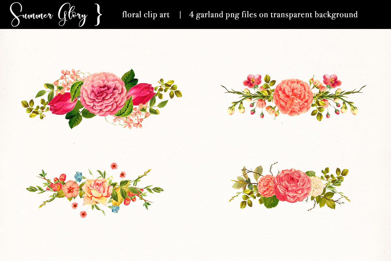 Floral Clip Art - Summer Glory example image 5