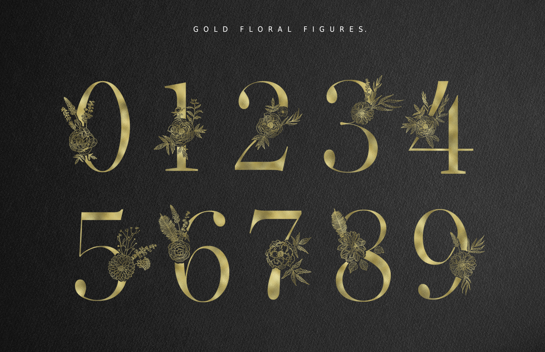 Floral Alphabets Collection. example image 21
