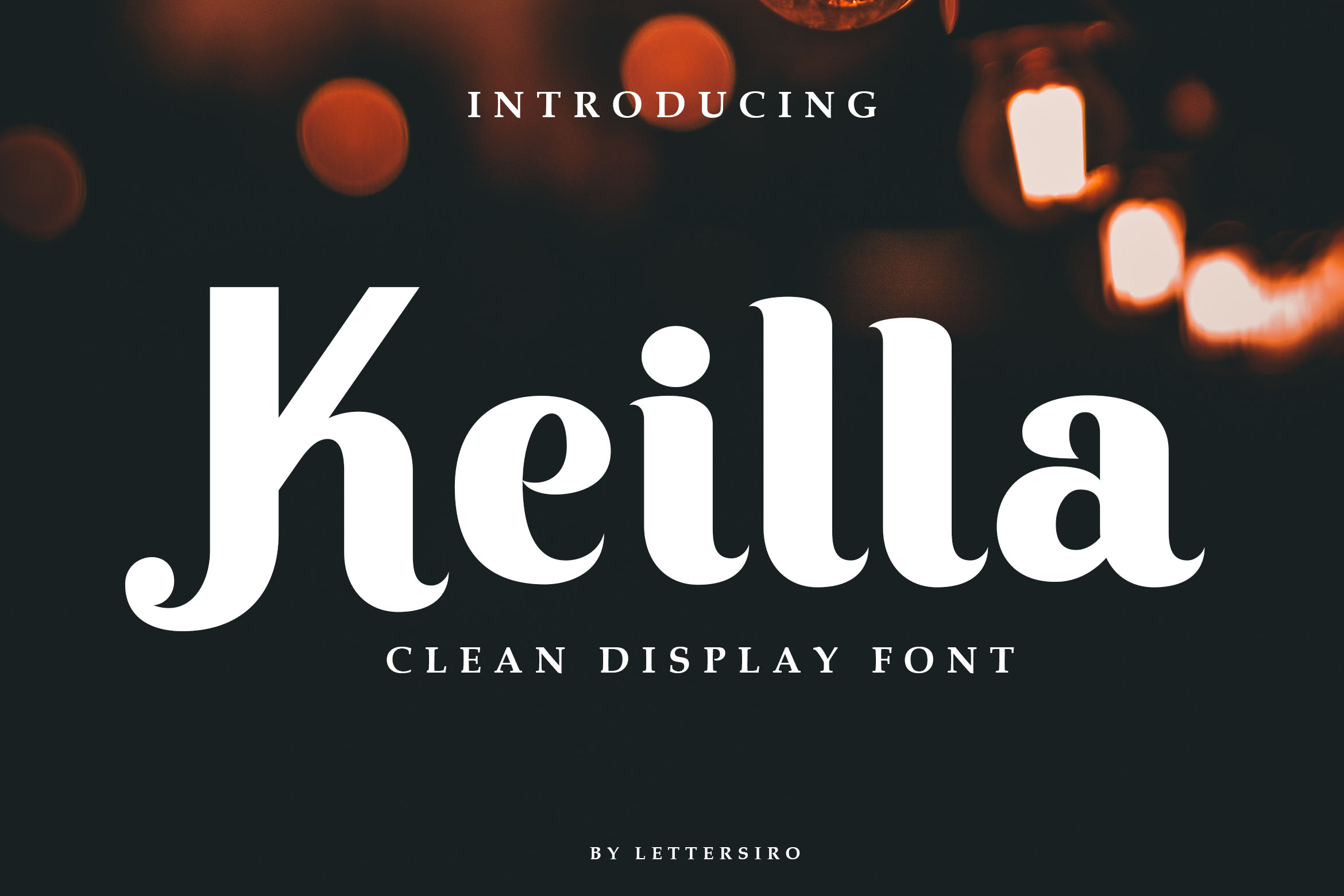 Keilla - Clean Display Font example image 2