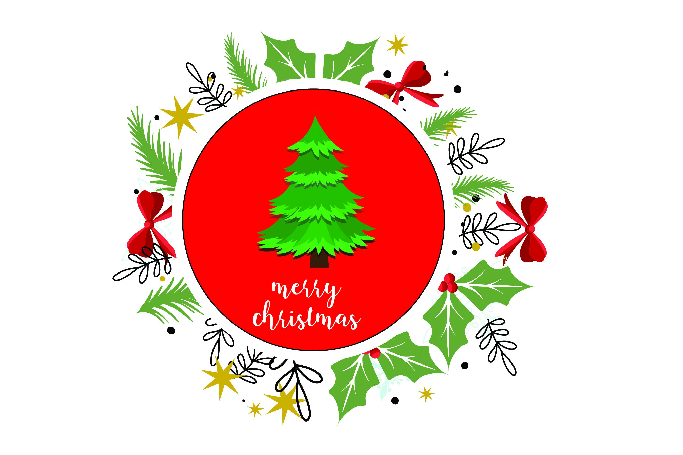 Merry Christmas-SVG Cut File-Coffee Mug Design-Greeting Card example image 5