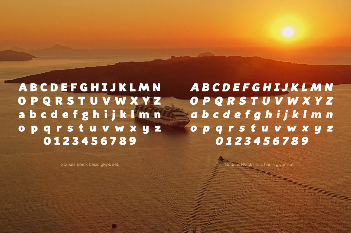 Souses — Black & Black Italic example image 5