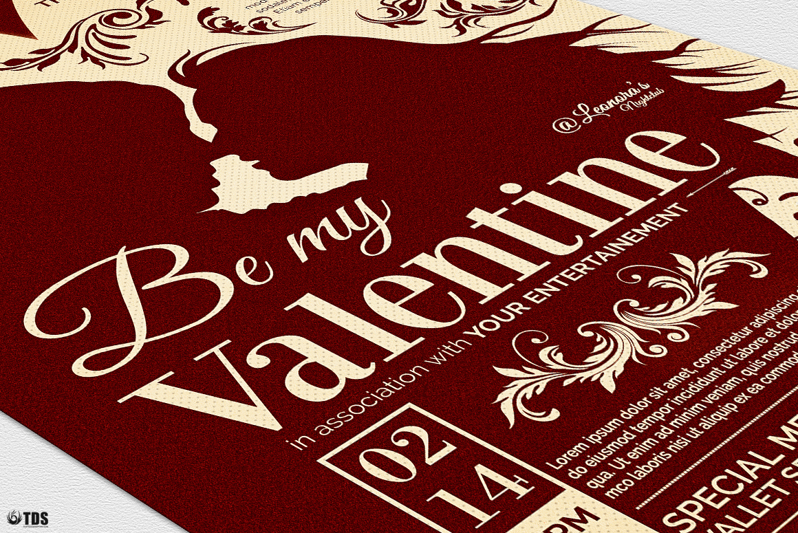 Valentines Day Flyer Template V6 example image 6