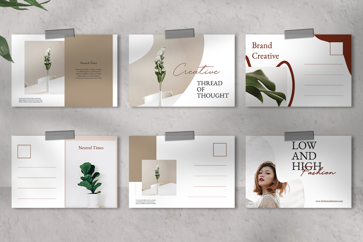 Neutral Postcard Templates example image 2