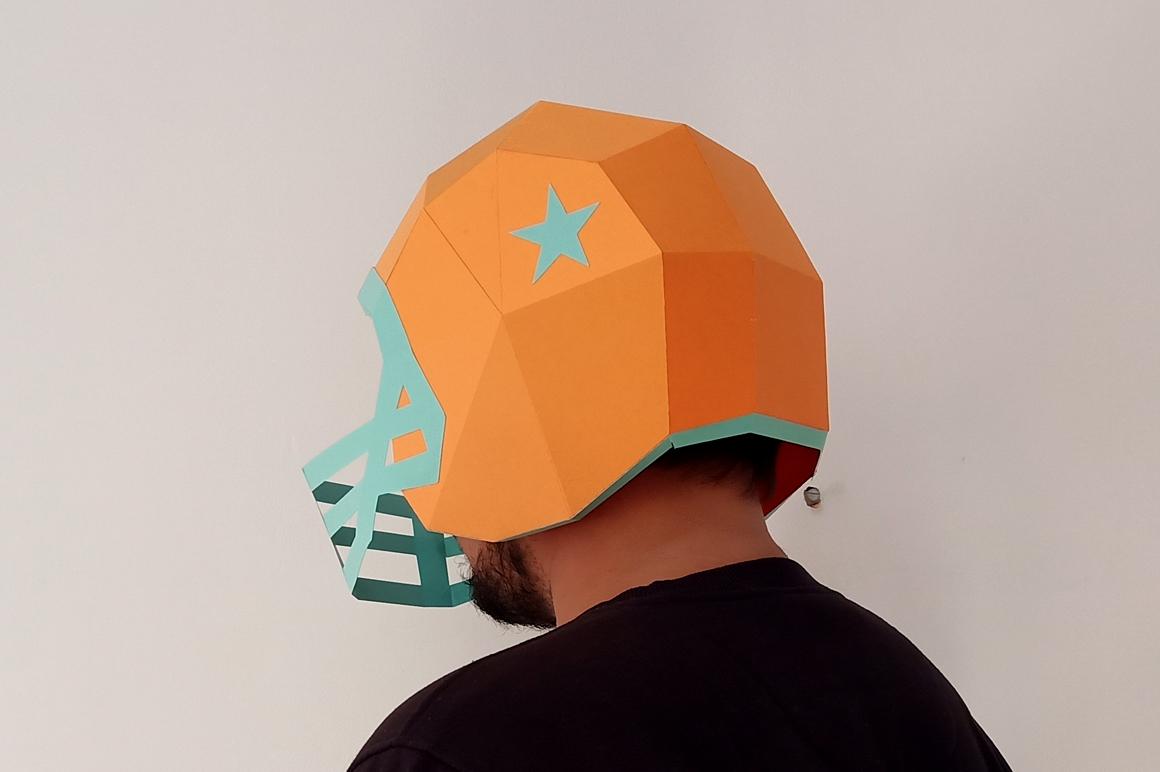 DIY Football Helmet - 3d papercraft example image 9