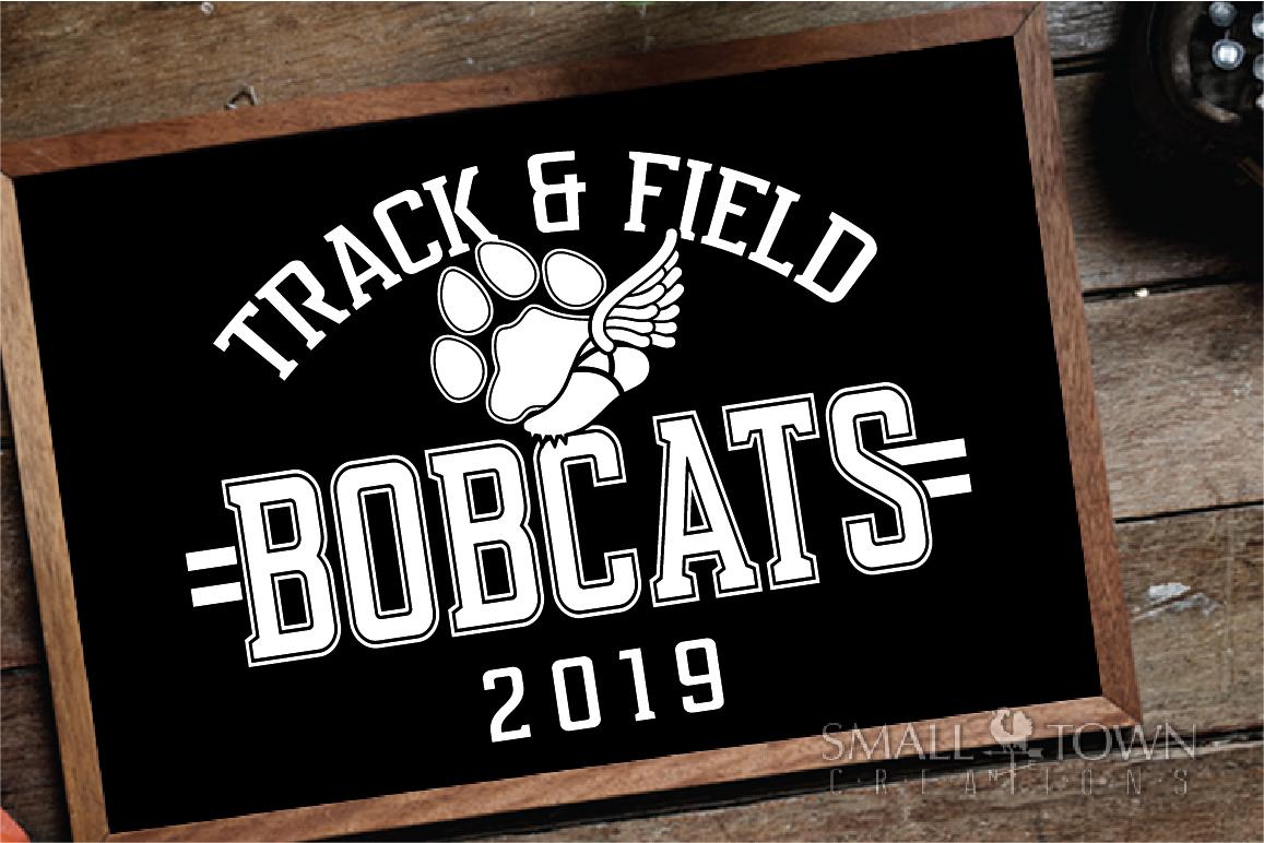 Bobcats Track and Field, bobcat mascot, PRINT, CUT, DESIGN example image 3