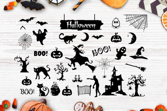 Halloween bundle 40 SVG , Eps, Dxf, Png for Cricu example image 3