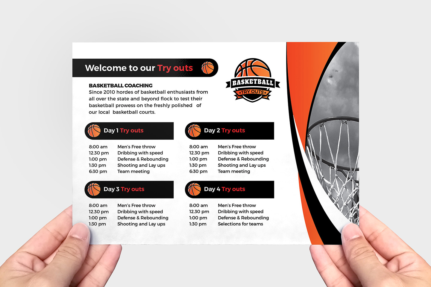 Basketball Flyer Template example image 3