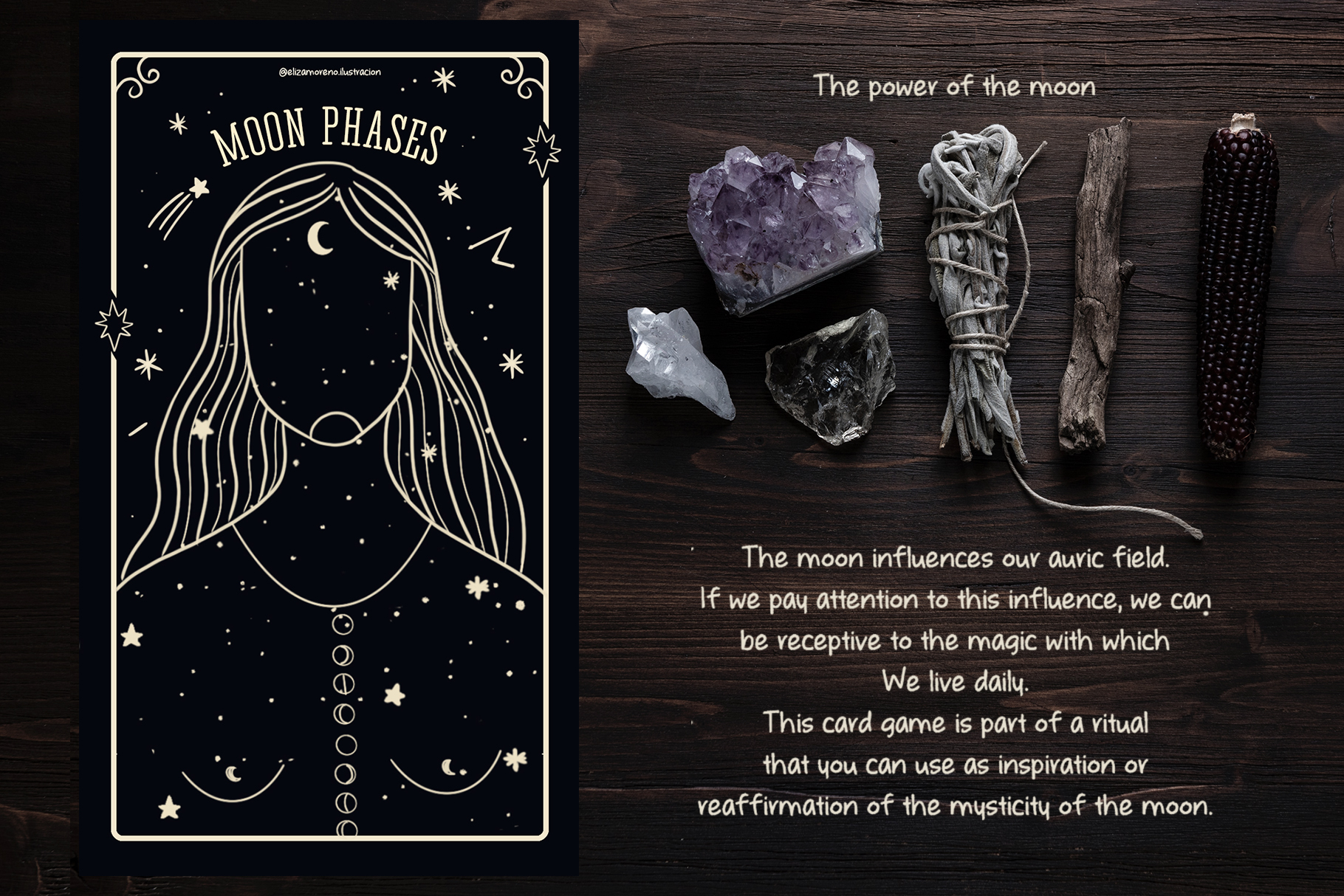 Moon phases mystical ritual cards example image 2