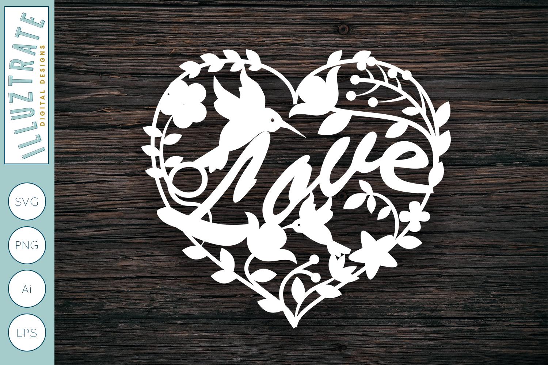 Download Love Heart SVG Cut File   Wedding SVG Design