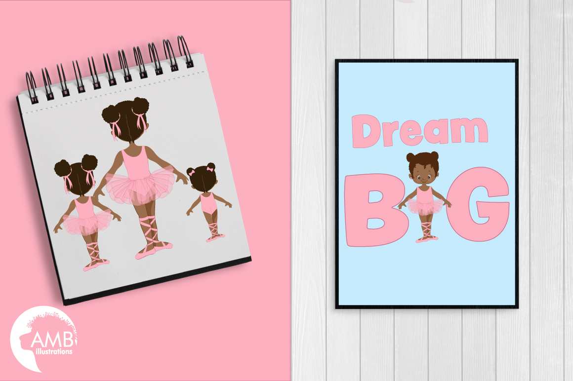 Ballerina sisters, ballerina friends, ballet clipart, graphics and illustrations AMB-2264 example image 5