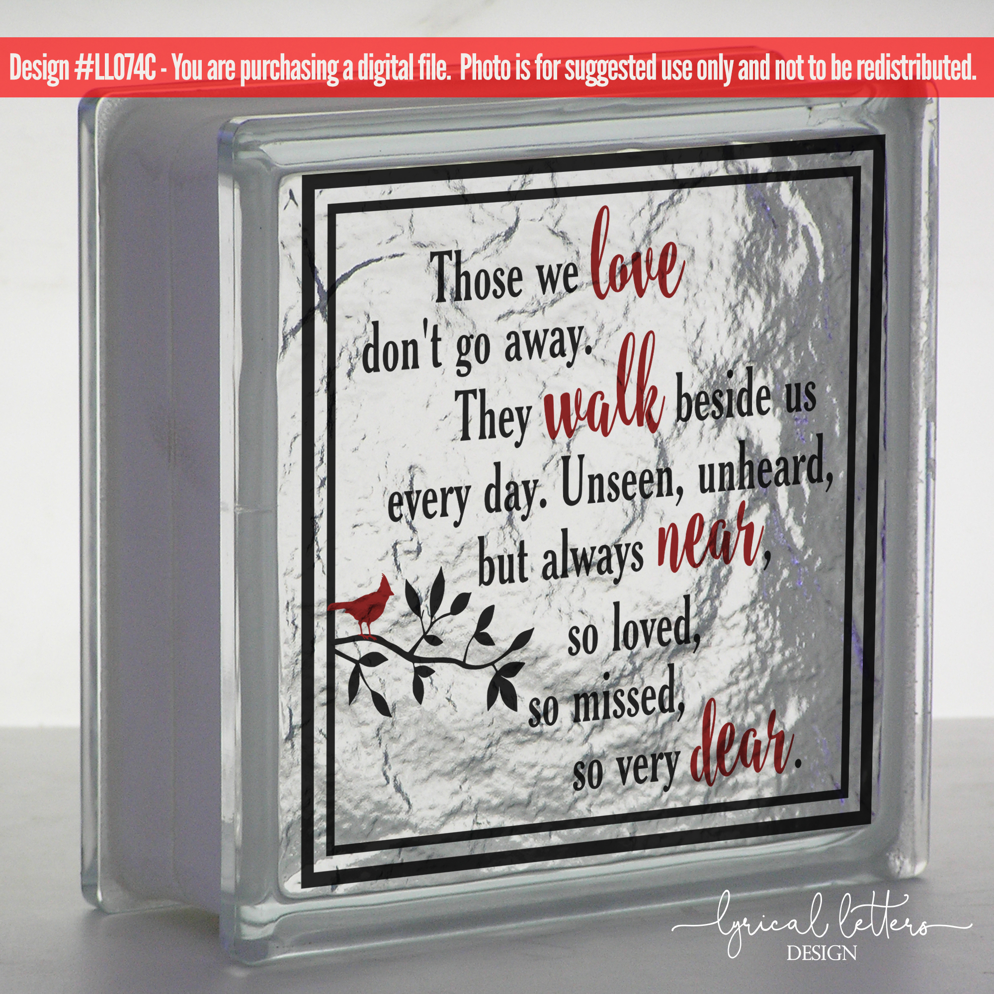 Download Those We Love Don't Go Away Cardinal SVG DXF LL074C (13060 ...