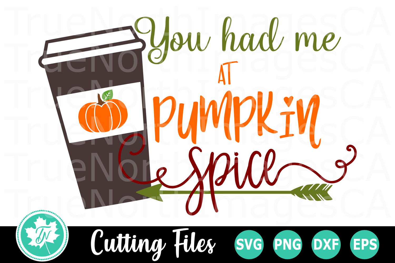 You Had Me at Pumpkin Spice - A Fall SVG Cut File example image 1