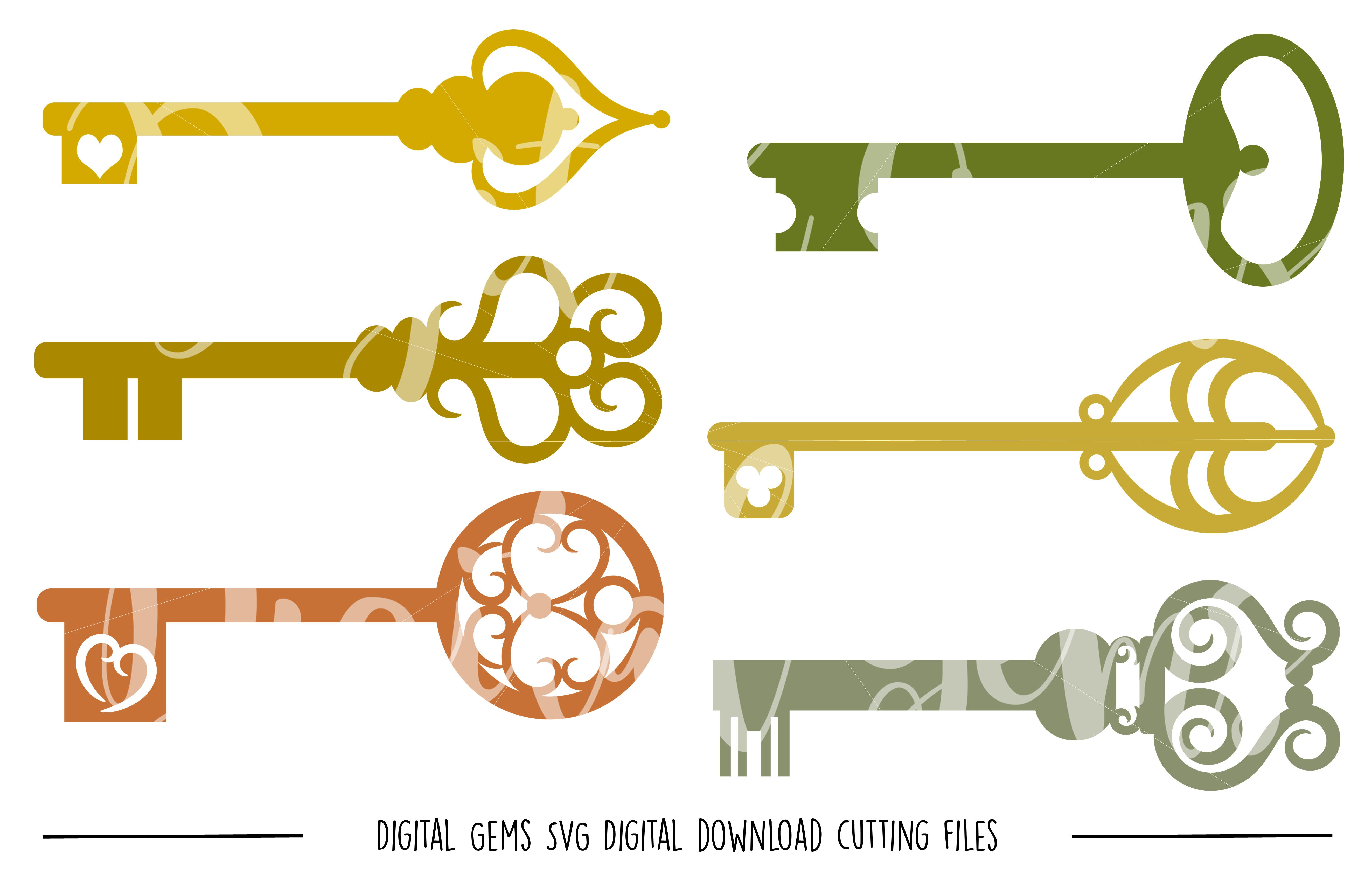 Keys SVG / DXF / EPS / PNG files example image 1