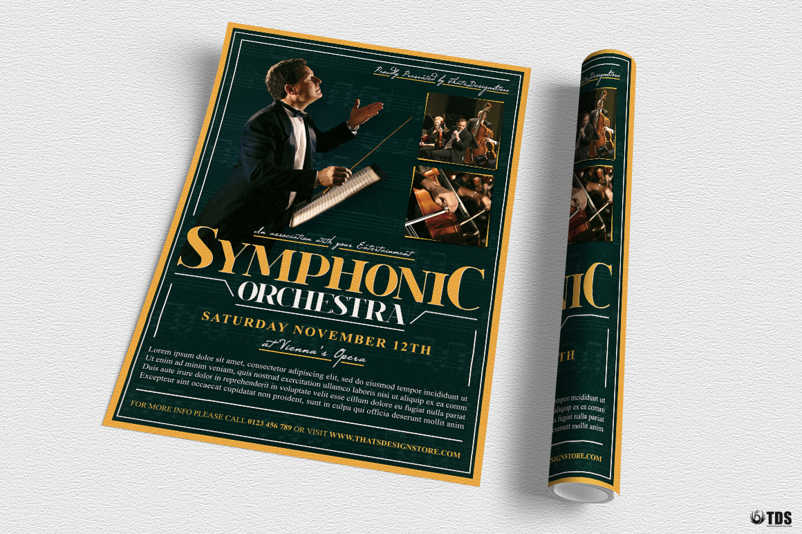 Symphonic Orchestra Flyer Template V2 example image 4