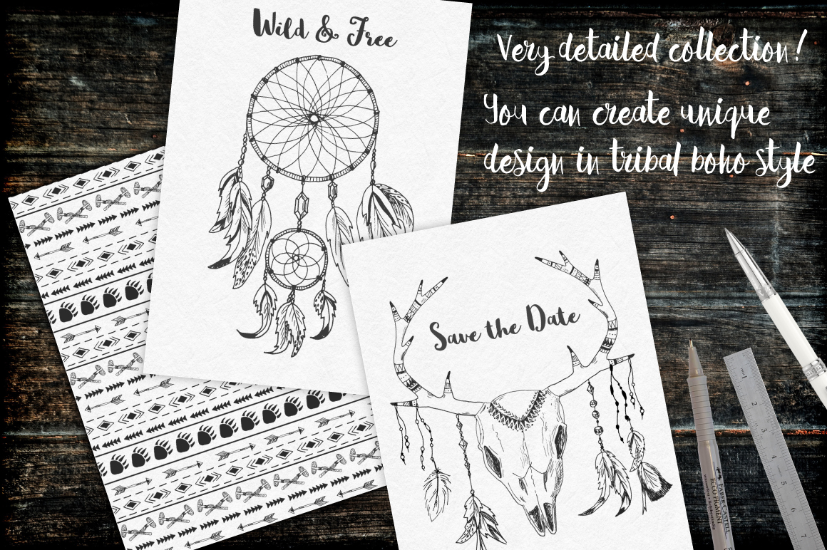 Tribal Design Vector Set Vol.2 example image 7