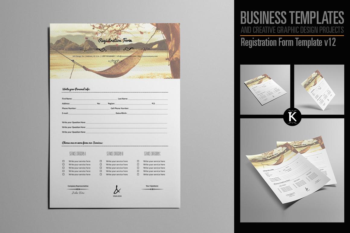 Registration Form Template v12 example image 1