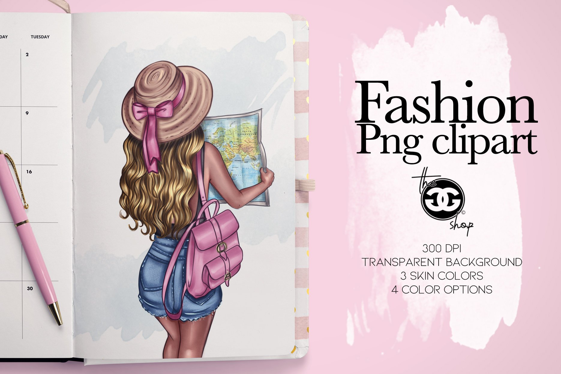 Fashion Png Clipart Planner insert decoration example image 1