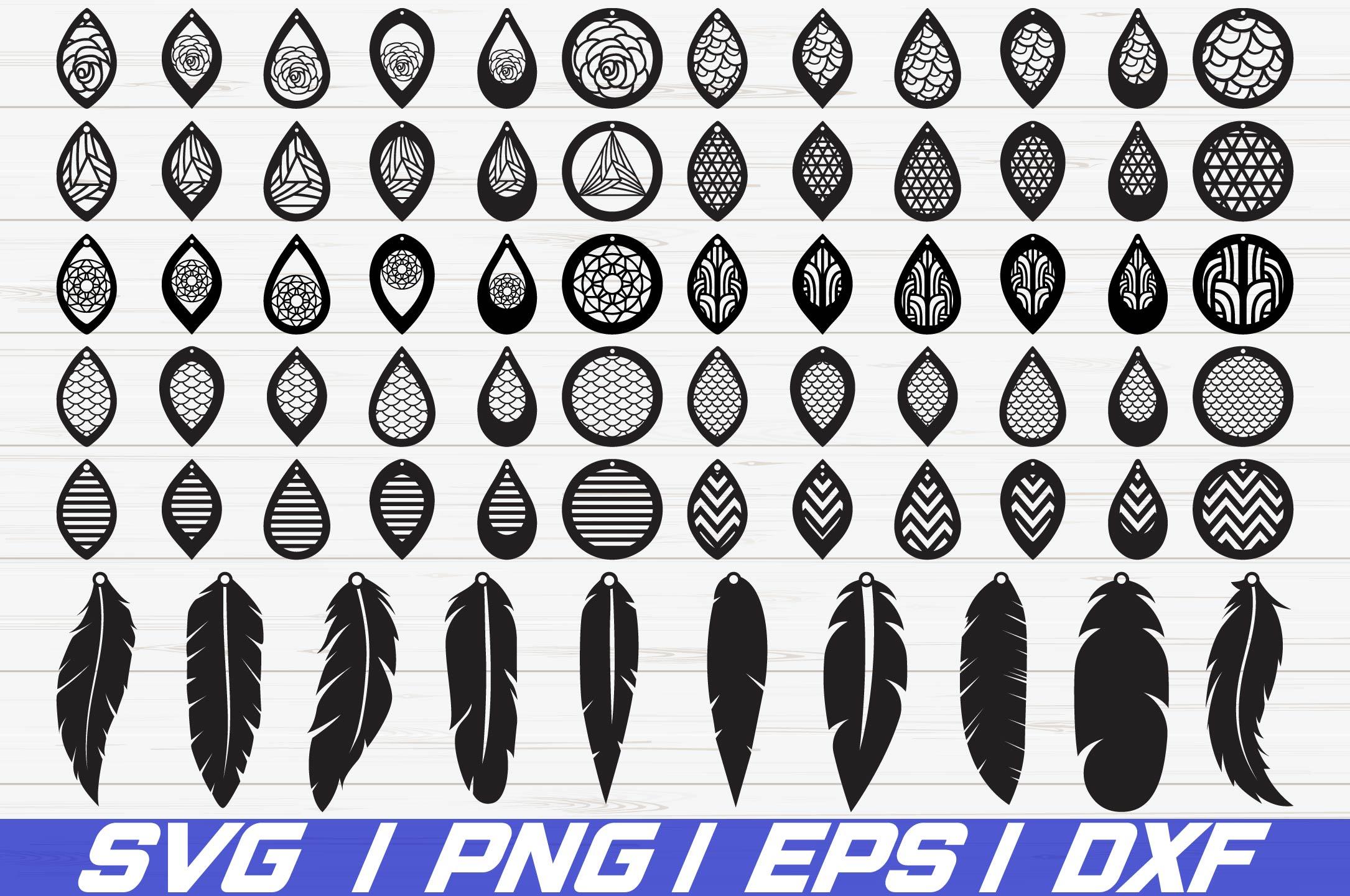 Download Earrings Bundle SVG/ Leather Earring/ Teardrop/ Cut File ...