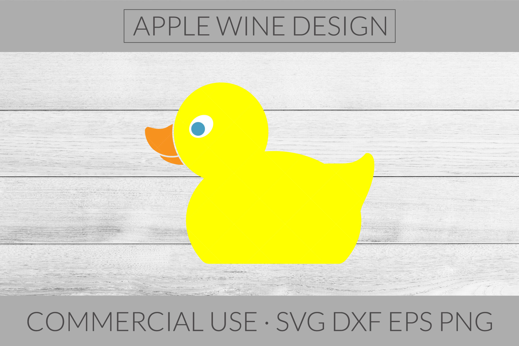 Rubber Ducky SVG DXF PNG EPS Cutting File example image 1