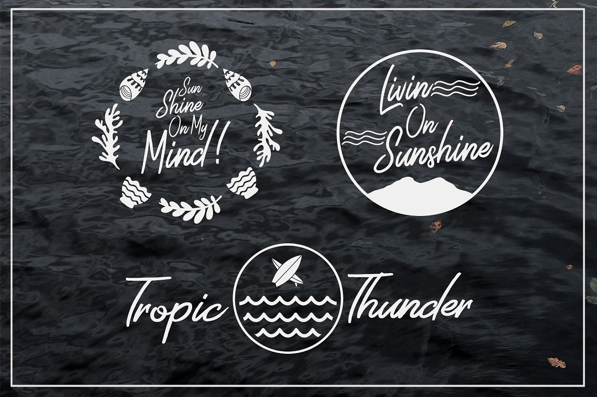 Harmonic Script With Summer Illustration Package Bundle example image 8