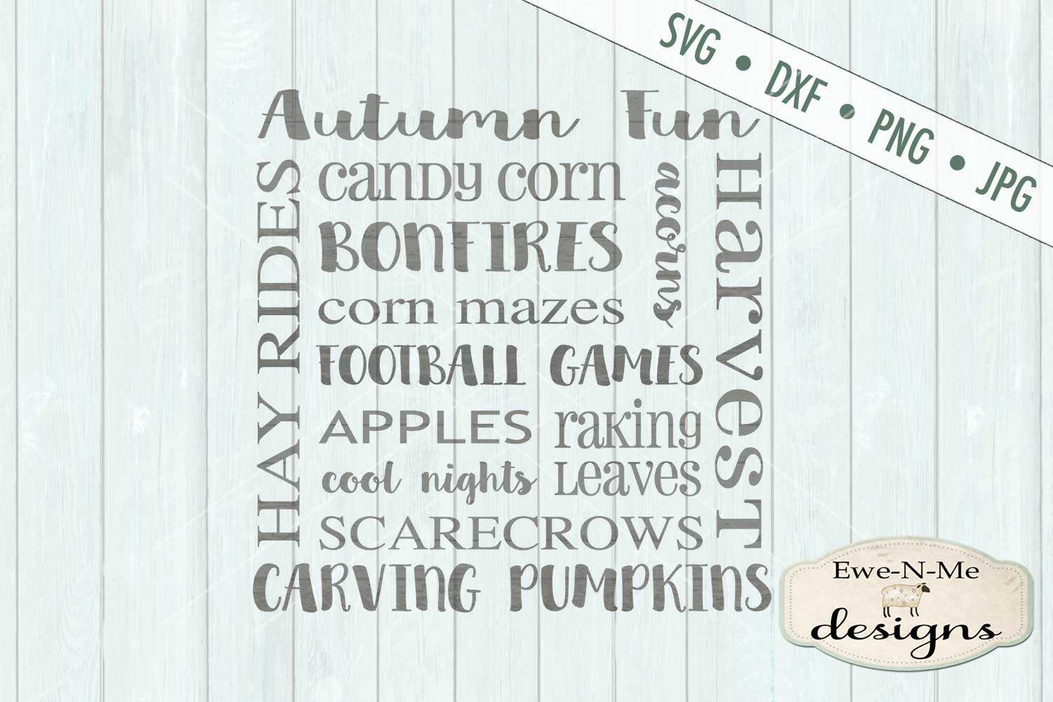 Autumn Fun Fall Subway SVG DXF Files example image 2