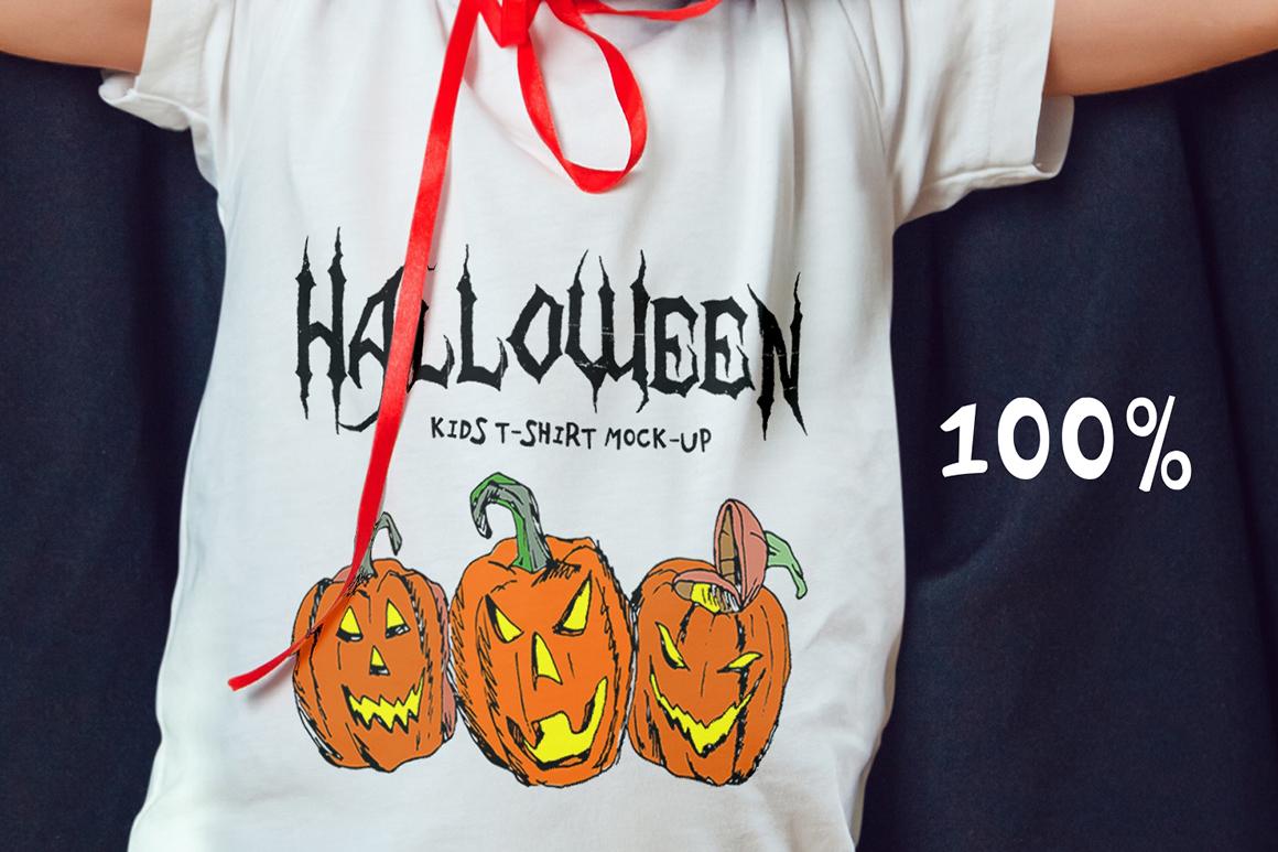 Halloween Kids T-Shirt Mock-Up example image 13