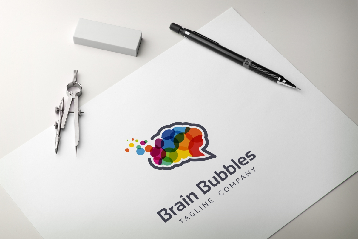 Brain Bubbles Logo example image 3
