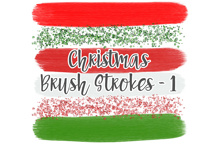 Christmas Brush Stroke Set 1 example image 1