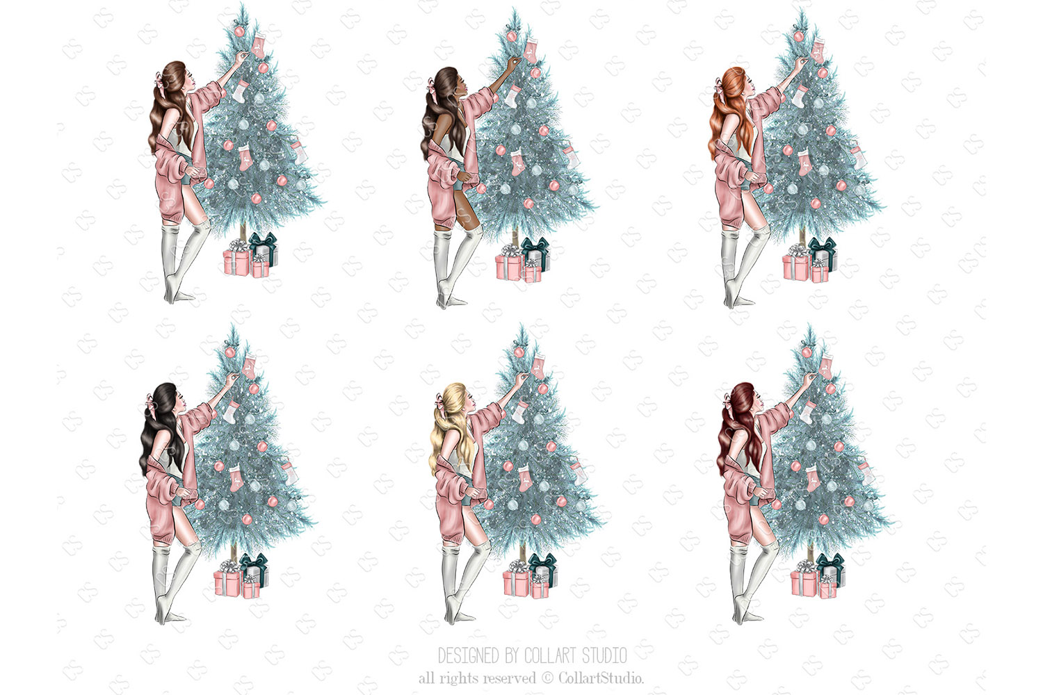 Christmas home decoration clipart, Fashion Christmas Planner example image 3