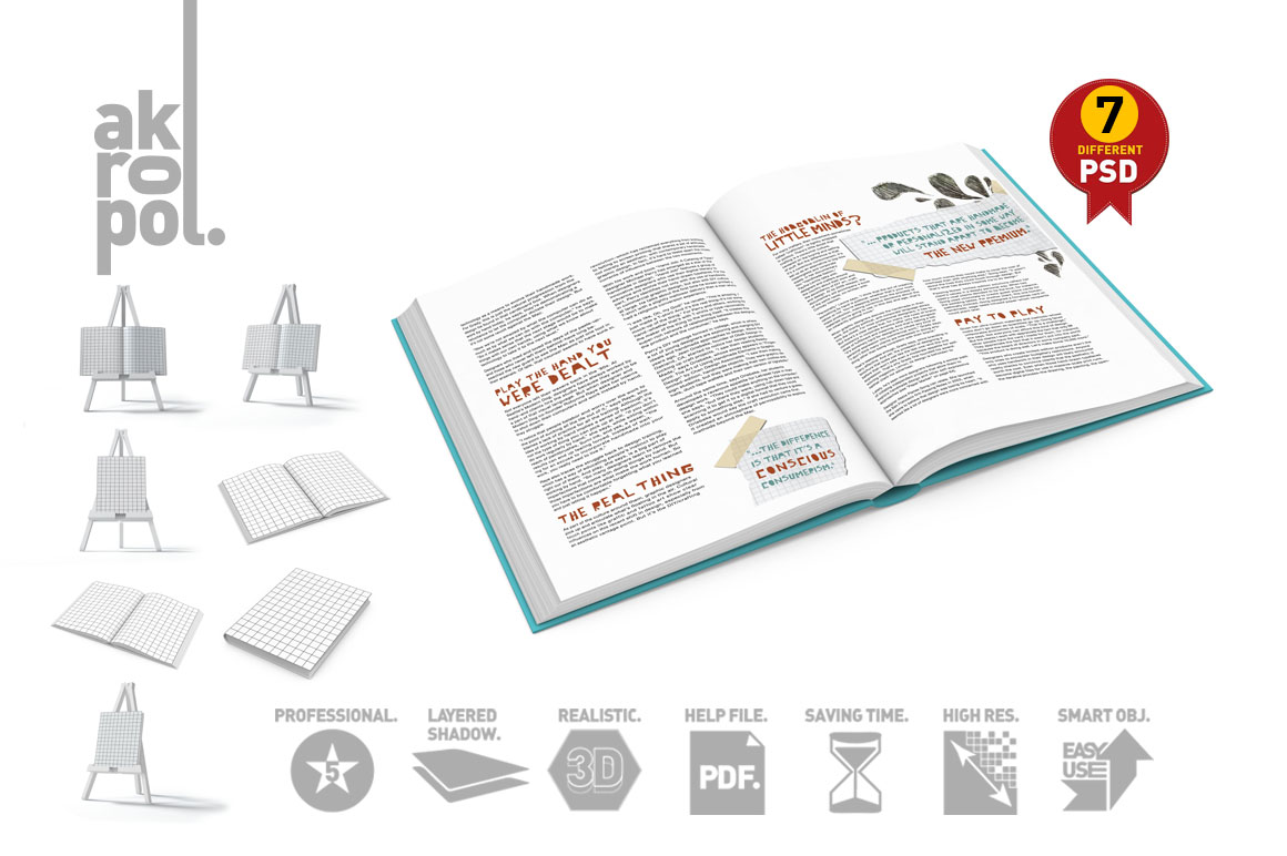 Book Mock-Up Set example image 6