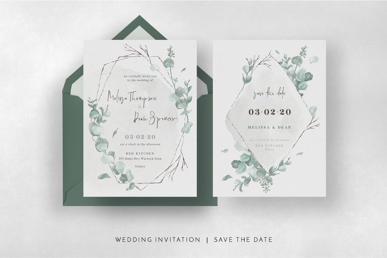 Watercolor Eucalyptus Wedding Suite example image 7