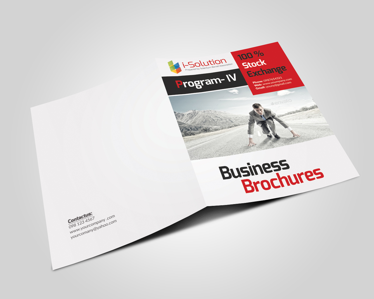 12 Pages Employment Business Bifold Brochure example image 6