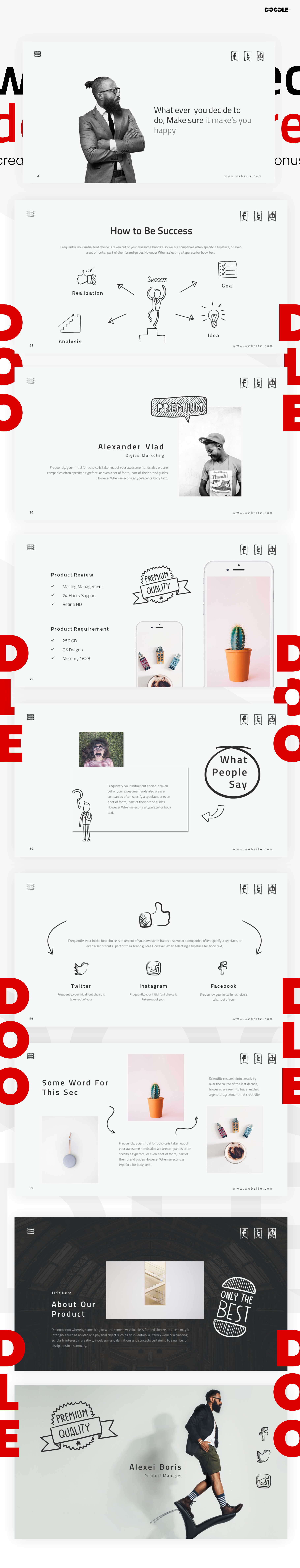 Doodles PowerPoint Template example image 13