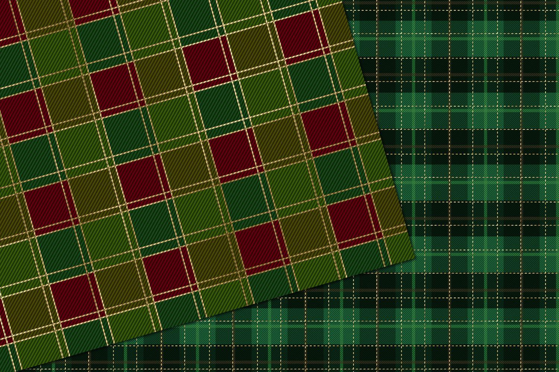 Christmas Plaid Digital Paper example image 3