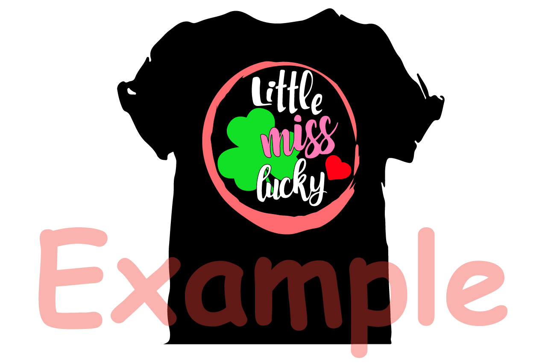 Little miss lucky St Patricks shamrock svg, irish svg -744s example image 5