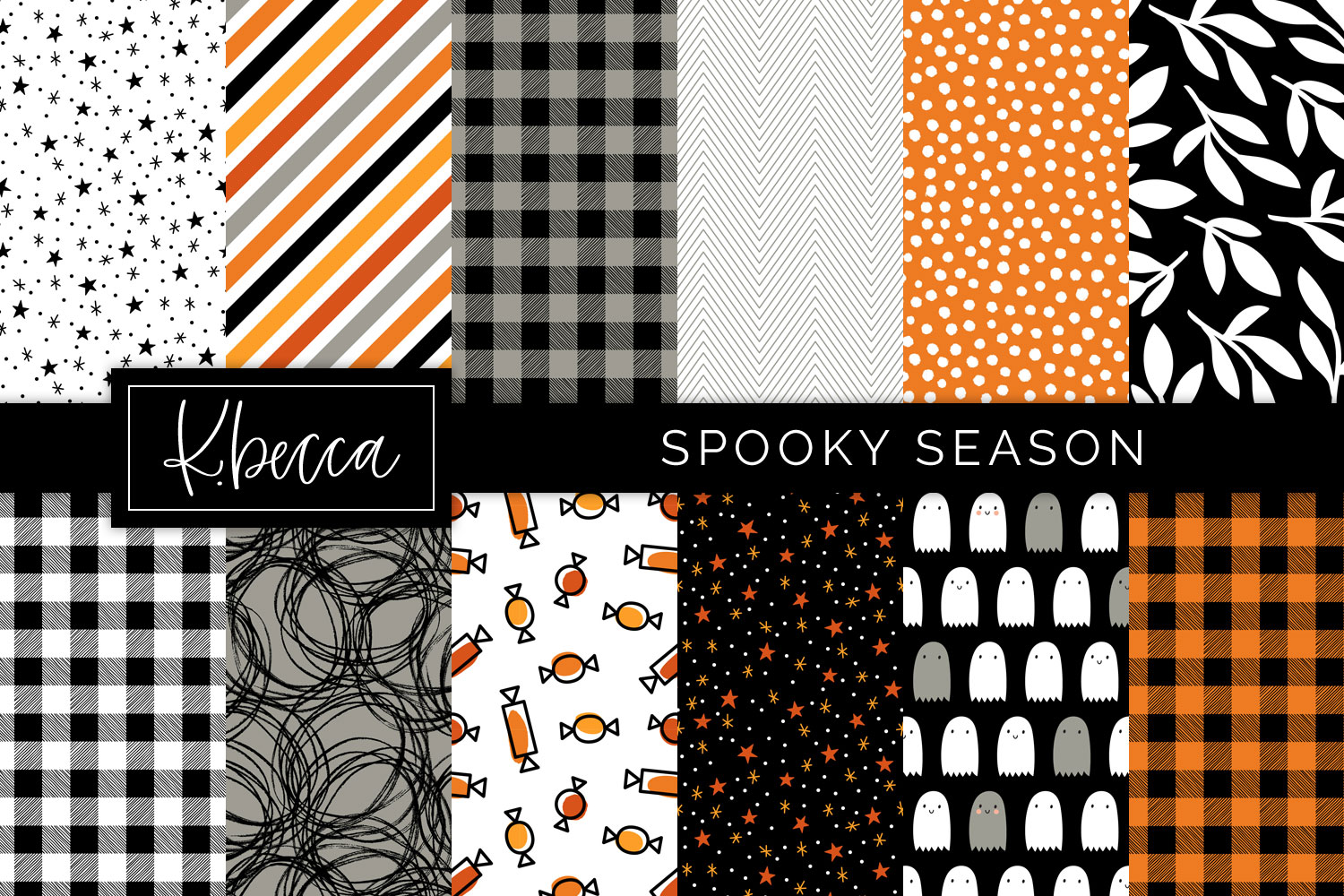 Spooky Halloween Background Patterns Seamless example image 1