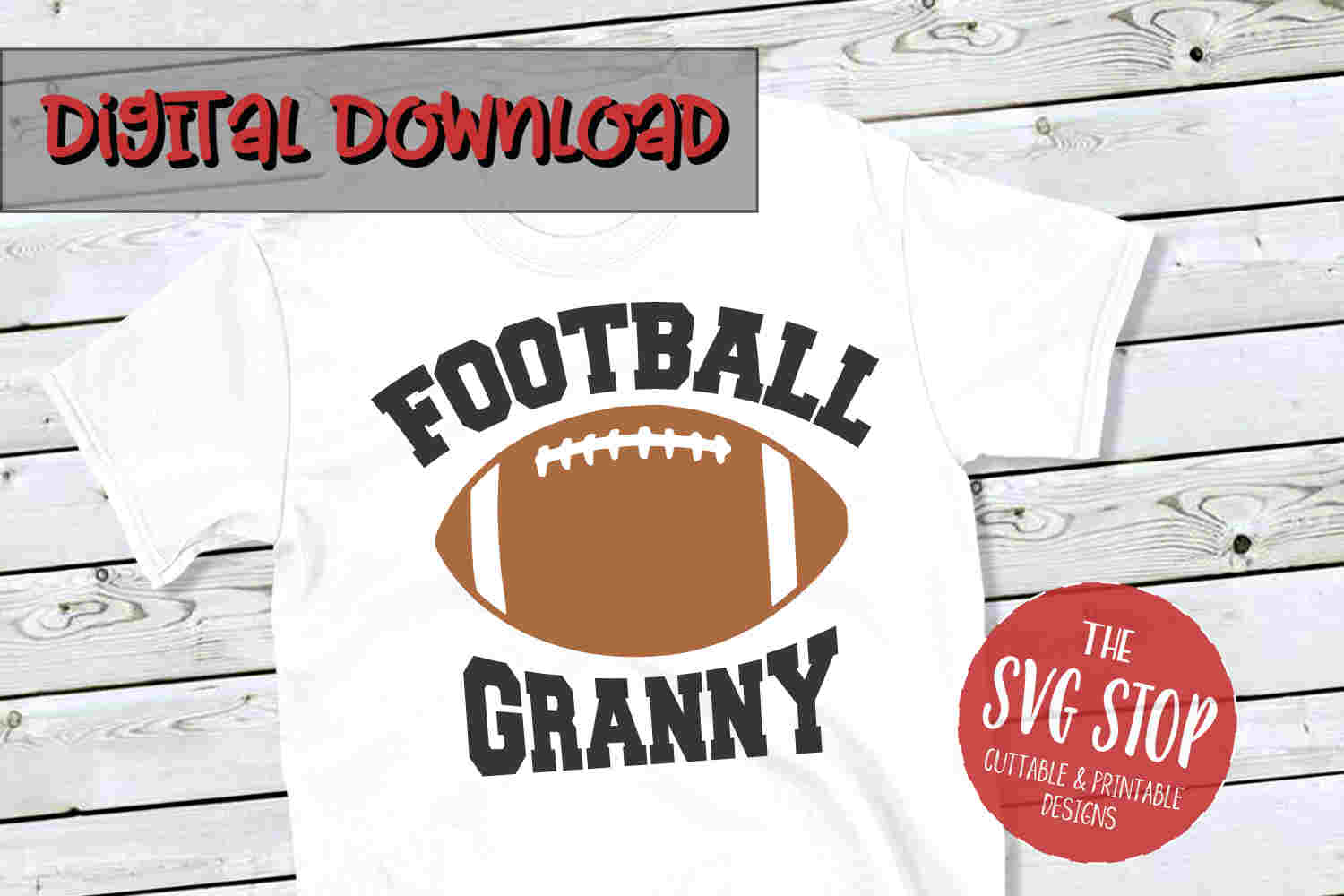 Football Granny -SVG, PNG, DXF example image 1