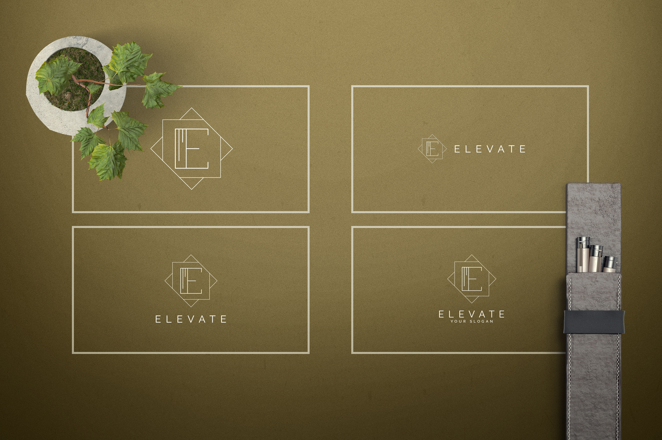 Geometric Letters and Logo Designs example image 6