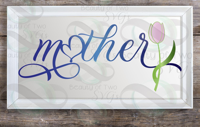 Mothers Day svg, Mother svg & png, Mom love flower svg, example image 3