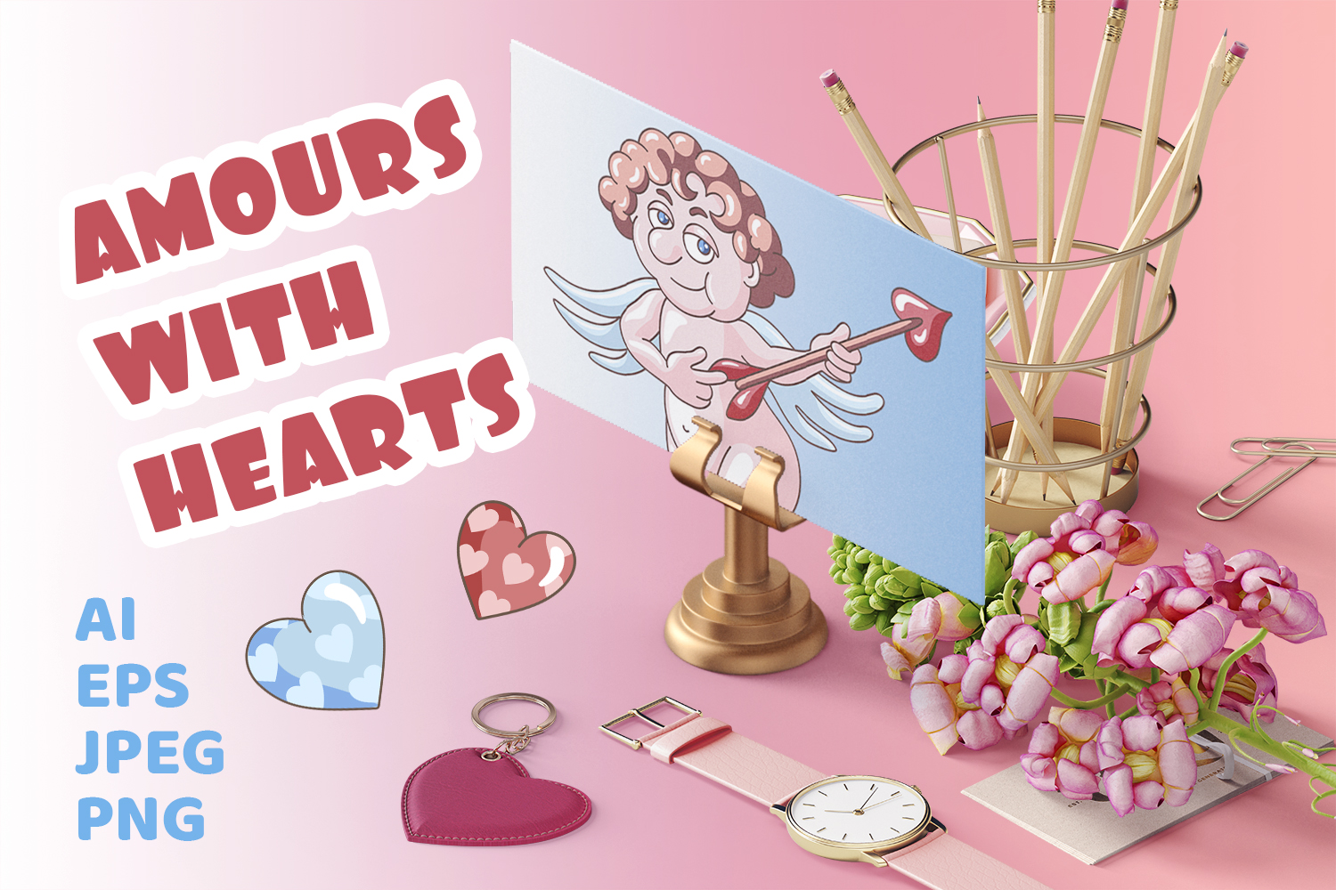 Amours with hearts example image 1