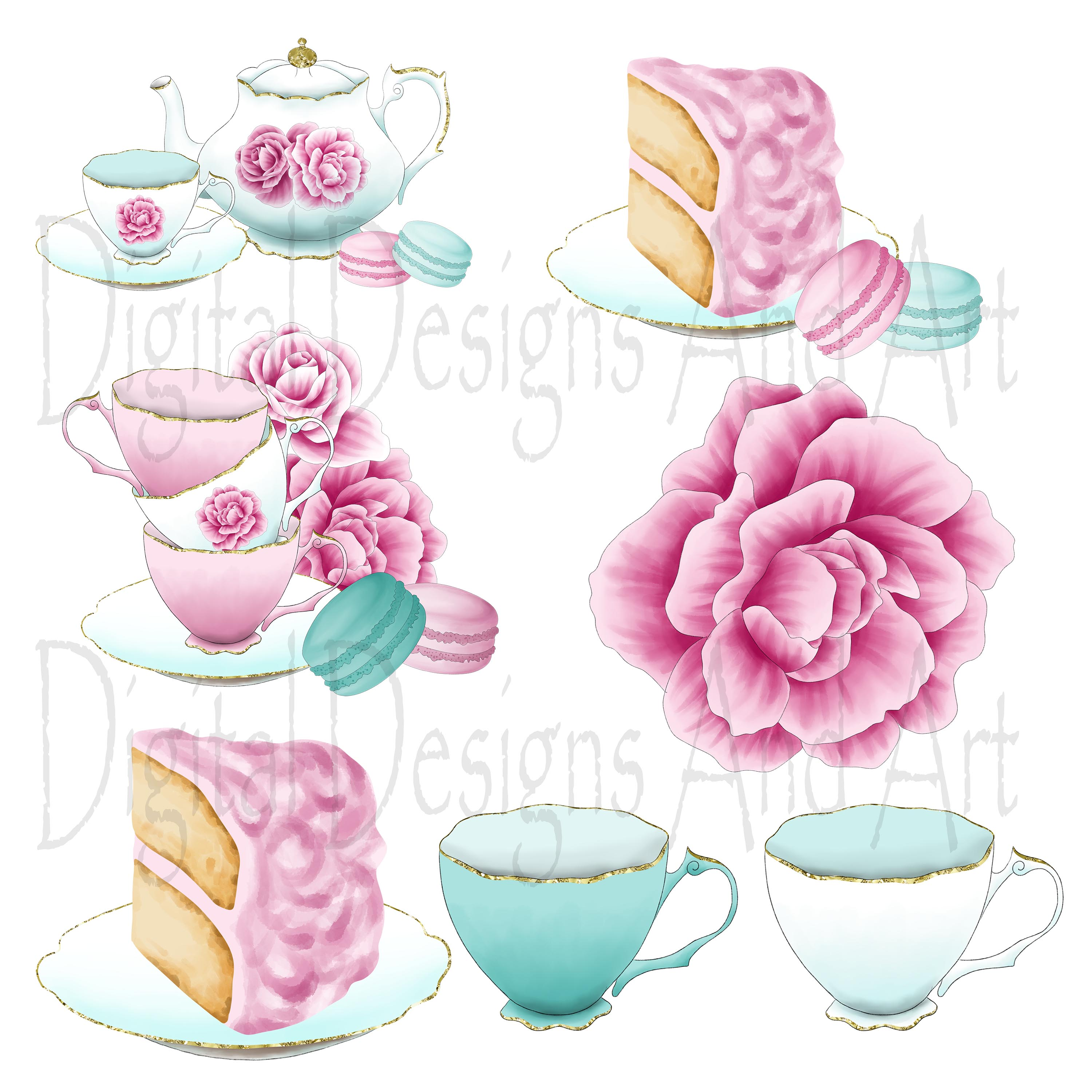 Afternoon tea clipart example image 5