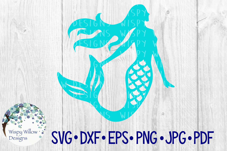 Mermaid, Summer, Beach, Nautical SVG Cut File example image 2