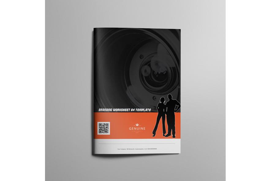 Branding Worksheet A4 Template example image 6