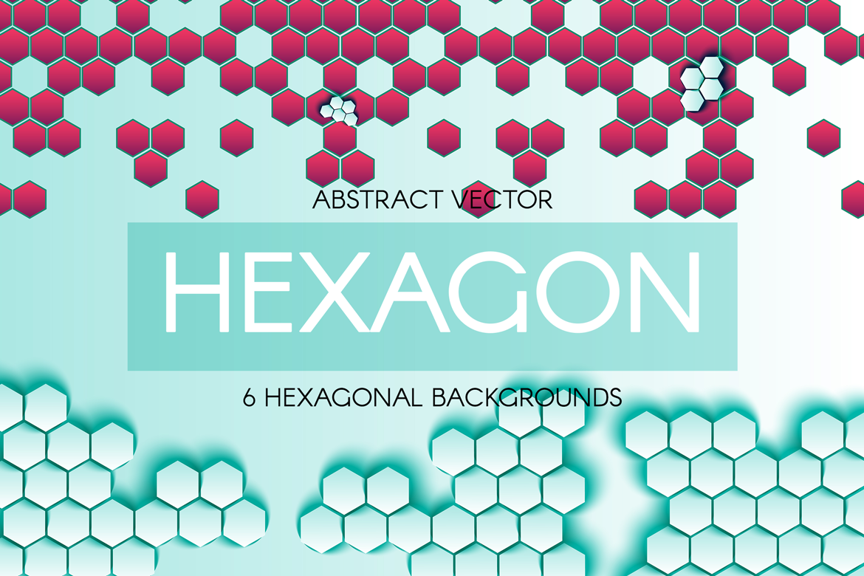 Abstract Hexagonal Backgrounds example image 2